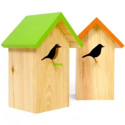 Adorably cool Bird Homes from Elseware's newest designer, Invotis Orange.