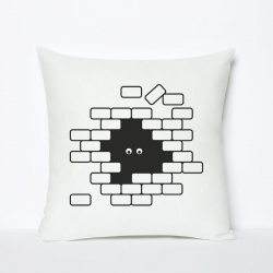 I see U U see me Pillow by Rinzen