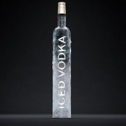 the 'iced' word given + the icy bottle appearance looks so mysteriously cool... Designed by Marc Praquin, the icy prototype ended up not being produced because of cost factors.