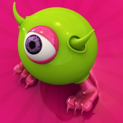 This is an iPhone and iPad game, Monster Fart with all 3D characters made in C4D. It's so funny and cute.