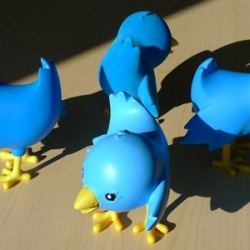 Twitter toys? That's right. These babies are up for auction in support of Cancer research.