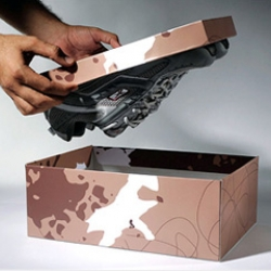 Packaging idea for Reebok climbing shoes, by Mccann Erickson Mumbai.