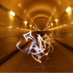 3-D Graffiti with Light! Using LED glowsticks.