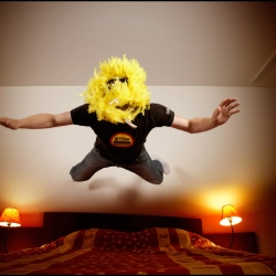 Enter the 'Suitejump' competition. The rules are simple: take a camera and jump on a bed !