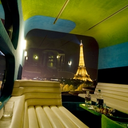 A temporary hotel in front of the Eiffel Tower in Paris  !