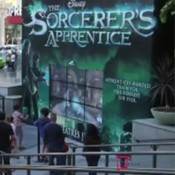 Inwindow Outdoor First to Use 3D Gesture Technology in Outdoor Campaign; the campaign is part of the launch of Disney's Sorcerer's Apprentice.