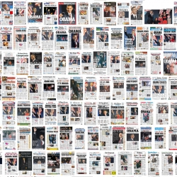 More 700 newspaper front pages from all over the world, the day after Barack Obama was elected.