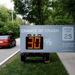 "Excellent impact for this campaign ""Slower is Better"", by Elm Grove Police."
