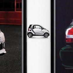 """Smart : Slim Poster. """"Fits Everywhere"""" by Jung von Matt"""
