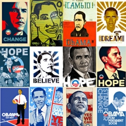 Obama Art : cool mix of the artists, inspired by a political candidate.