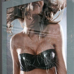 Excellent idea of ambient marketing for Wonderbra, by Publicis Frankfurt.