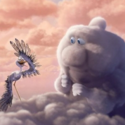 Partly Cloudy is the next Pixar short film directed by Peter Sohn : shown in theaters before Up.