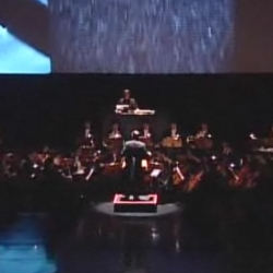 A perfect audio-visual interaction of orchestra and the sounds of the Audi R8.