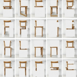 Ideographic Alphabet :Very specific chair with different letter form.