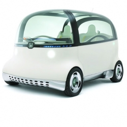 The Puyo car is the latest innovation from Honda in Tokyo.