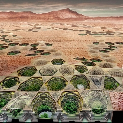 Sietch Nevada, for 'Out of Water - innovative technologies in arid climates' exhibition, by MATSYS.