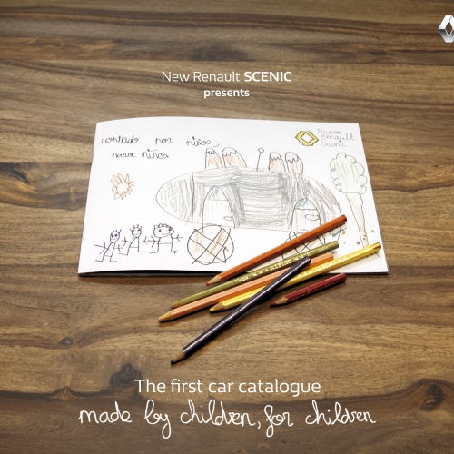 Renault Scénic Kids brochure - Renault Spain has created a car catalog, made by children, for children.