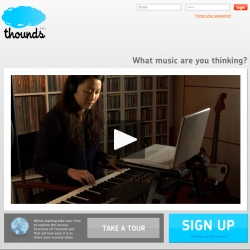 Thounds is a music platform, easily accessible through a social network.