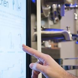 Atlanta based InReality created a new display for Danze faucets that uses RFID technology and a touch screen to blur the line between physical product and digital content interaction.