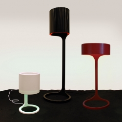 'Infinite' lamp designed by Sofia Ohlsson. The past HI-MACS award winner can now be seen at Designgalleriet, Formex trade show and furniture fairs in Stockholm.