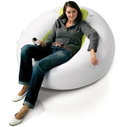 Cool  Inflatable Lounger (GBP 20; about $40) built-in two speakers that you can connect your i-Pod, MP3 player, or CD player.
