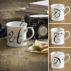 Gorgeously simple and affordable initial mugs