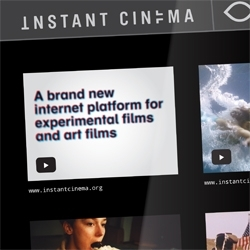 instantcinema.org - an online platform for experimental films and art films. Instant Cinema is designed by interaction designer Folkert Gorter.