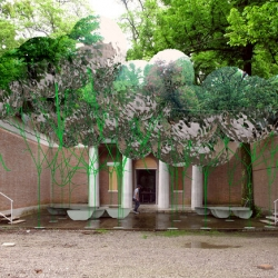 Instant Untitled: Art installation made out of helium-filled weather balloons by MOS Architects for the U.S. Pavilion at the Venice Biennale's Architecture Exhibition.