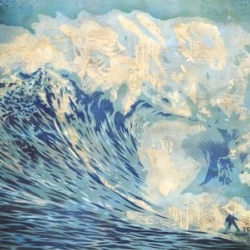 Artist Shepard Fairey interprets one of the largest big wave surfing reef breaks in the world: JAWS!