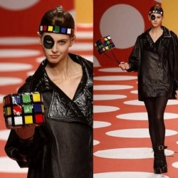Jean-Charles de Castelbajac, is definitely one of the best pop culture designer - see the Rubiks Cube Handbag - a little jewel for Fashonista girl