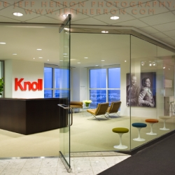 Architectural and design photographer Jeff Herron documented the new KNOLL showroom in downtown Miami.