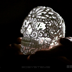 A recent collaboration between The Sugar Lab and Josh Harker led to this sugar skull for Día de los Muertos.