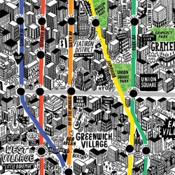 After three months of research, planning, and meticulous sketching, British illustrator Jenni Sparks produced an intricate, hand-drawn map of New York City.