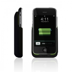A much needed and beautifully executed external battery for iPhone 3G by mophie: the Juice Pack.