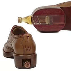 Oliver Sweeny Johnnie Walker Brogue Shoes... with a special heel compartment to keep some nips of Red Label.