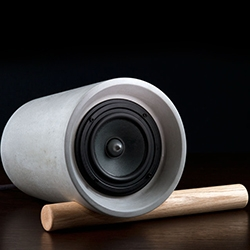 Jack is a hand cast concrete speaker, designed by Ben Wahrlich for AN/AESTHETIC.