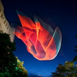 '1.26' is the latest cool fiber sculpture designed by artist Janet Echelman who drew inspiration from NASA. The sculpture was realized for the Biennial of the Americas 2010.