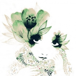 Ink painting by Lucie Beranger, delicate and chic.