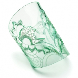 Ethereal Glass Effect Cuff by Joanna Bury. Tribal inspired unusual jewelry.