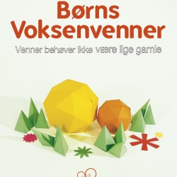 A redesign of the visual identity for the danish organization Børns Voksenvenner (Children's Grown-up Friends). The new identity is build up in a universe of papercraft illustration.