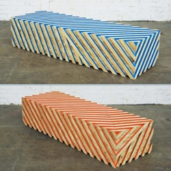 'If you could' wood bench by Damien Poulain and Jorre van Ast.