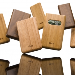 Hand-crafted solid wood cases fir iPod & iPhone - sexy, tough and VERY renewable: for every tree used, 100 are re-planted through the Arbor Day Foundation.