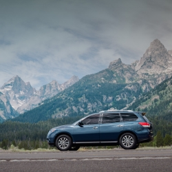 Five states, 8 days , and all with the perfect main attraction, a vibrant blue 2013 Nissan Pathfinder.  Take  a journey through some of the most beautiful places in the West-  Grand Tetons National Park, Wasatch Mountains and Bonneville Salt Flats.