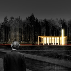 """""""Another road beginning"""" - competition entry for new cemetery in Jarva common, Stockholm by Latvian architects NRJA."""