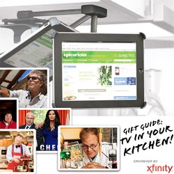 Gift Guide: TVs in Kitchens ~ the gadgets and gizmos that help make it even easier when cooking! (And a taste of some of the Tasteologie Editors' favorite cooking shows!)