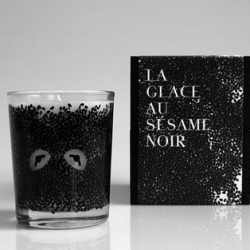 The Kitsuné Noir you shouldn't eat: Black Sesame Ice Cream Candle a la sesame street  (tip: follow the fox to access more of their wonderful music and nice clothes)