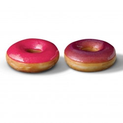 To celebrate the 10th anniversary of the UK's popular women's glossy magazine, Krispy Kreme UK has teamed up with Glamour to create the exclusive Glamour Glaze doughnut.