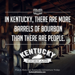 In Kentucky, There Are More Barrels Of Bourbon Than There Are People. Awesome campaign rebranding Kentucky!