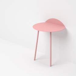Lodon-based designer Kenyon Yeah designed Kaki, a wall stand side table with simple lines, created to rest books, magazines, flower pot, table lamp, or small objects.