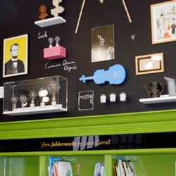 Pentragram's new and impressive work for The Library Initiative includes brand new elementary school libraries with murals by designed by Maira Kalman, Christoph Niemann...